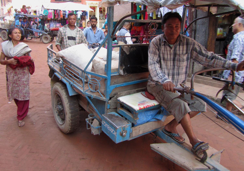 Nepal-Bhaktapur-Rickshaw