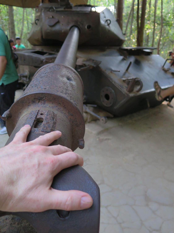 Vietnam-Cu-Chi-Tunnels-American-Tank