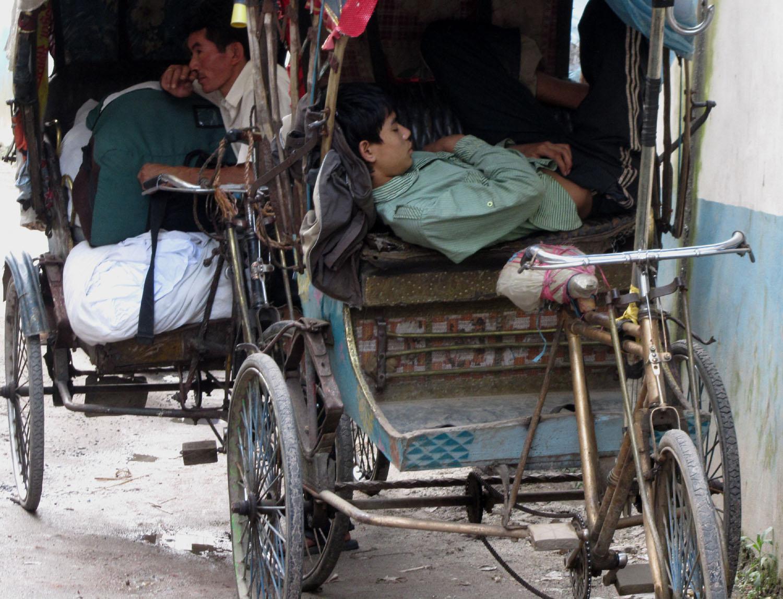 Nepal-Kathmandu-Rickshaw