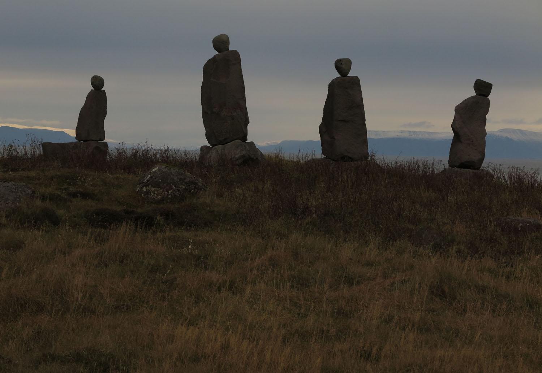 Iceland-Reykjavik-Figures-Stone