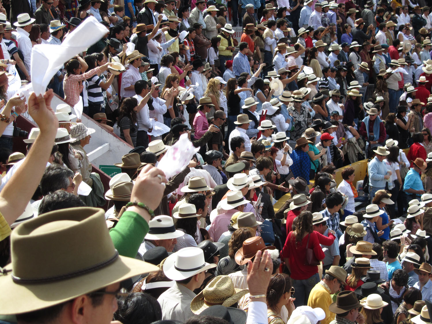 Ecuador-Quito-Bullfight-Crowd-Cheering
