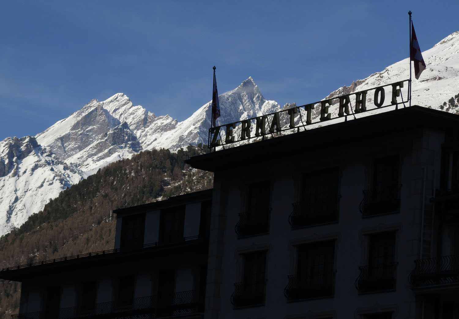 Switzerland-Zermatt-Hotel-Sign