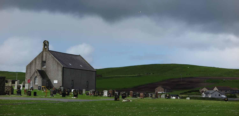 Scotland-Shetland-Church