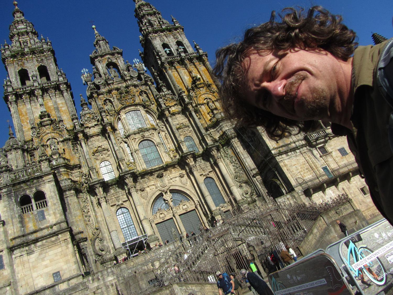 Camino-De-Santiago-Santiago-Cathedral-Self-Portrait