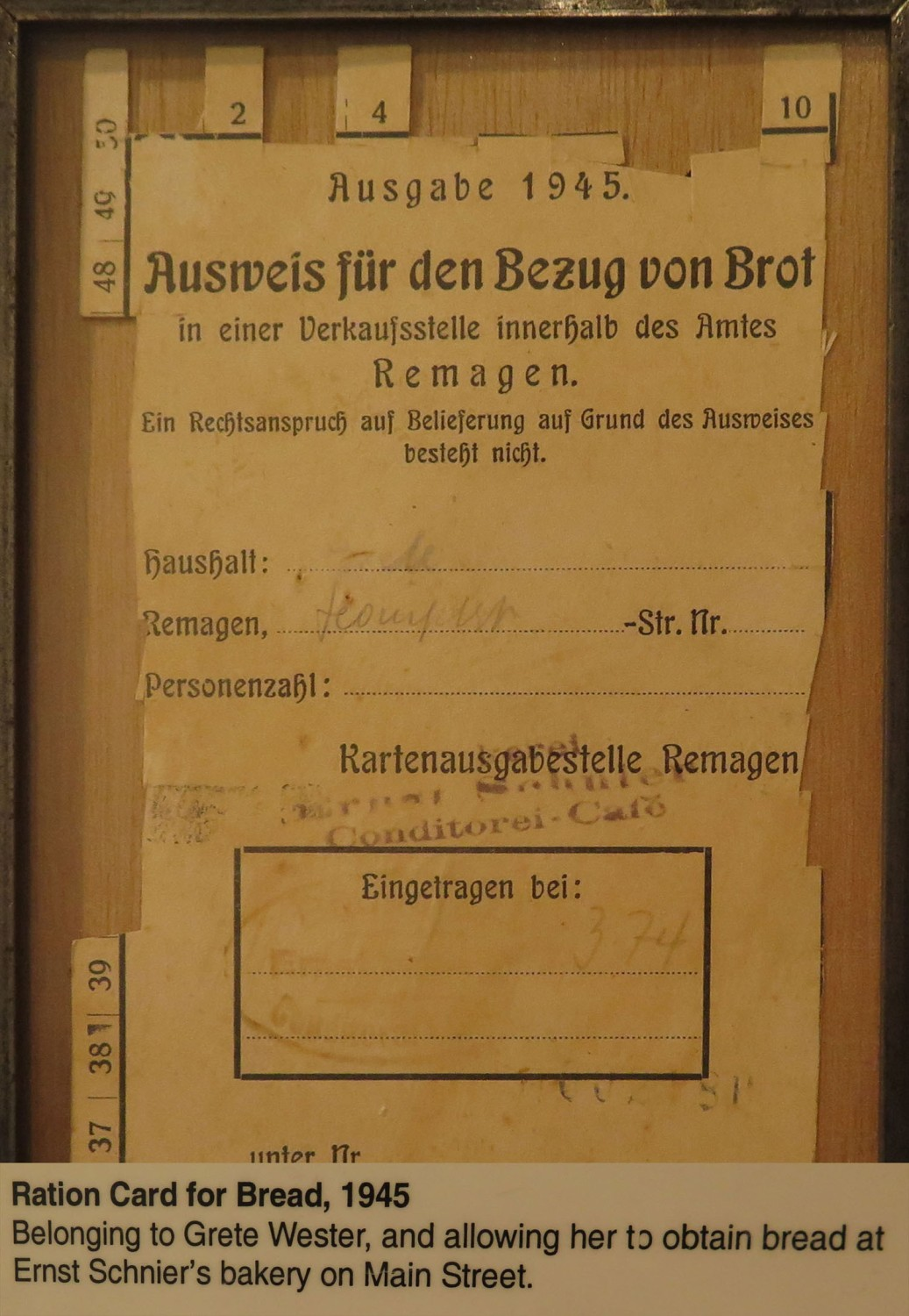 Germany-Bridge-At-Remagen-Peace-Museum-Bread-Ration-Card