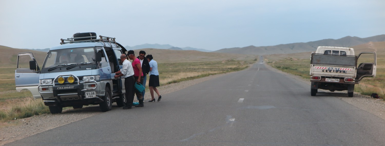 Mongolia-On-The-Road-Out-Of-Gas