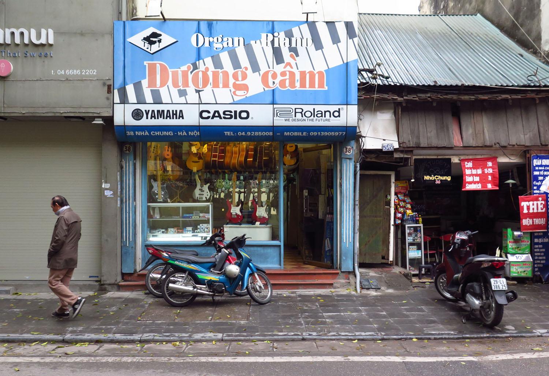 Vietnam-Hanoi-Street-Scenes-Music-Store
