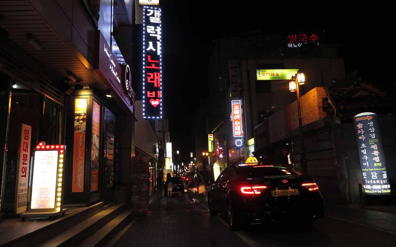 Korea-Seoul-Street-Scenes-Night-Taxi