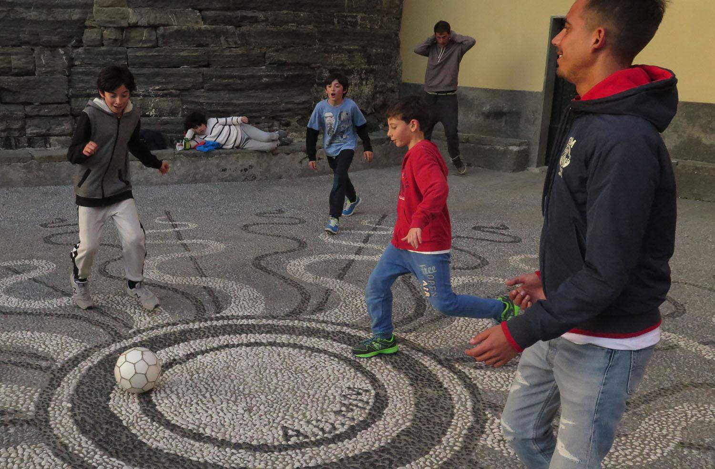 Italy-Cinque-Terre-Street-Scenes-Football