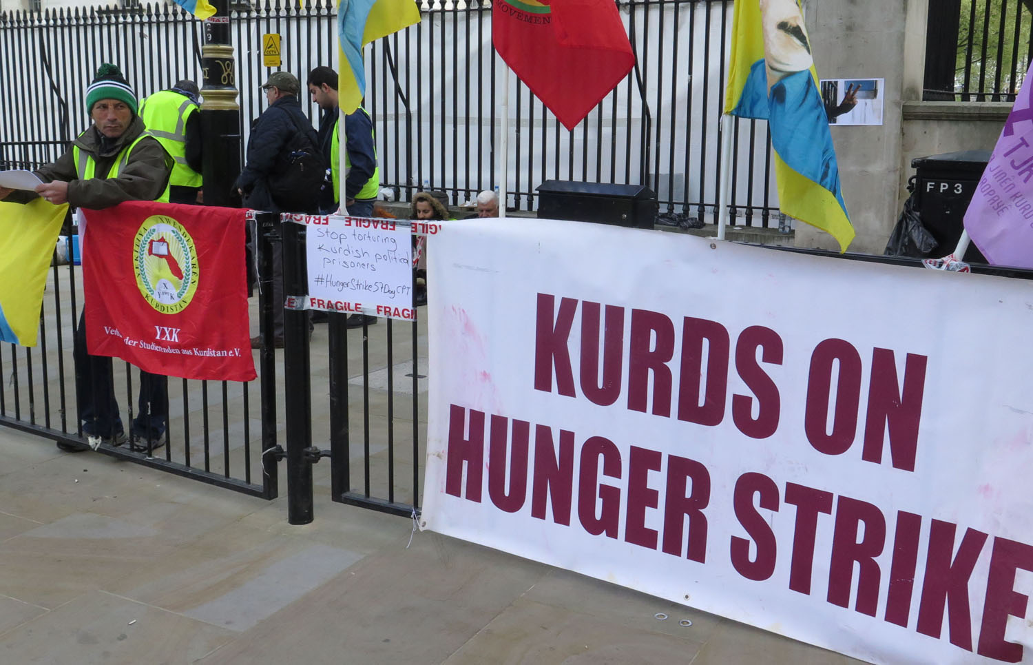 England-London-Downing-Street-Kurdish-Hunger-Strikers