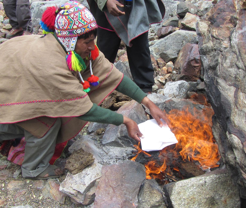 Peru-Salkantay-Trek-Day2-Offering-Burn