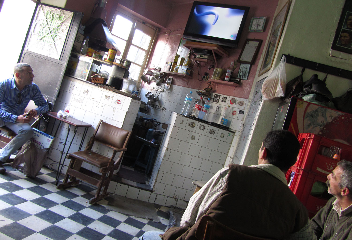 Morocco-Tangier-Bar-Television
