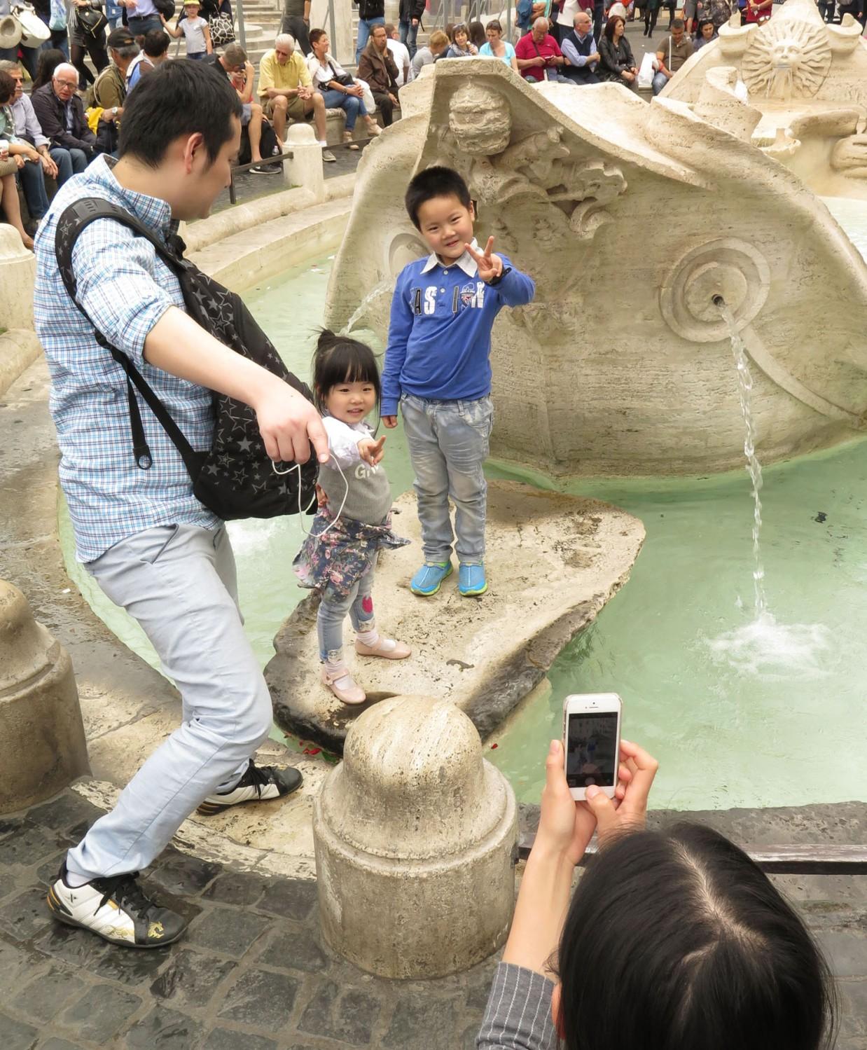 Italy-Rome-Barcaccia-Fountain