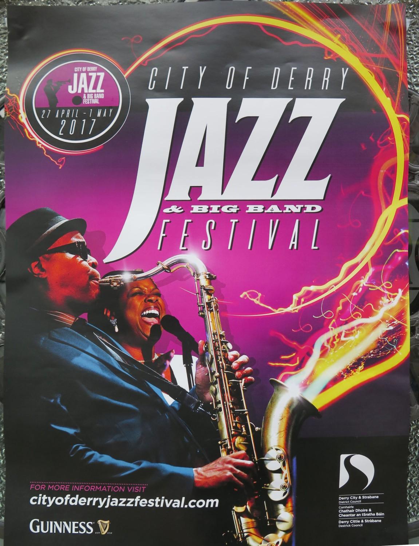 Northern-Ireland-Derry-Londonderry-Street-Scenes-Jazz-Festival-Poster