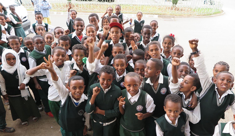 Ethiopia-Addis-Ababa-Street-Scenes-School-Kids