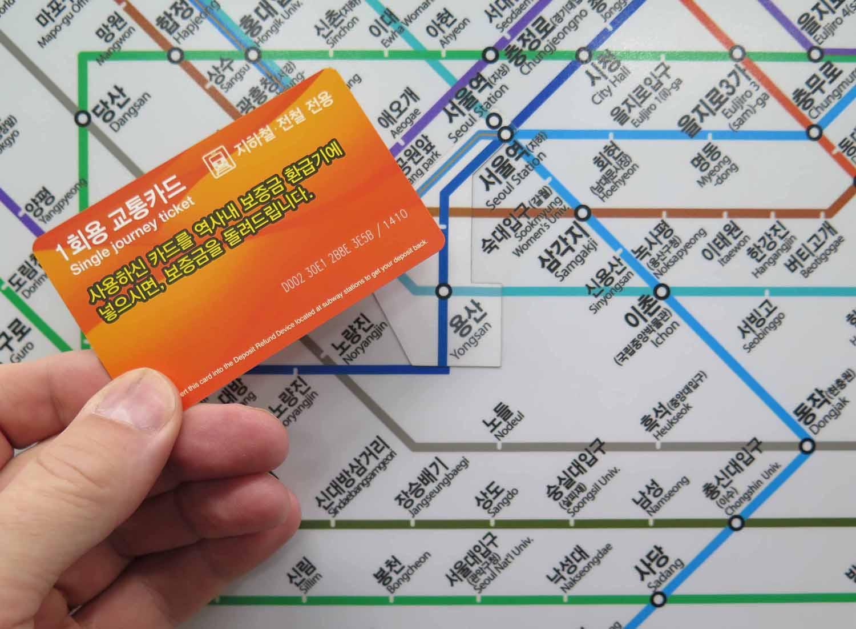 Korea-Seoul-Metro-Map-And-Ticket