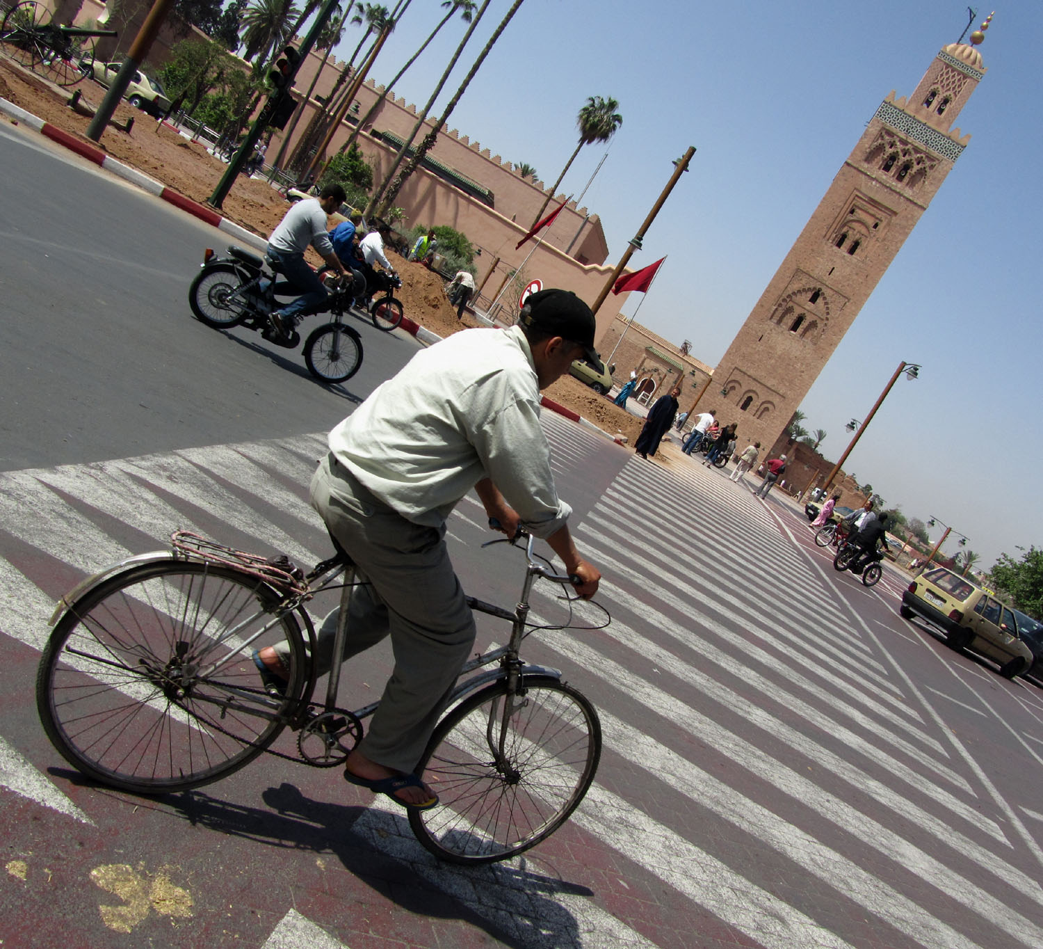 Morocco-Marrakech-Minaret-Bicycle