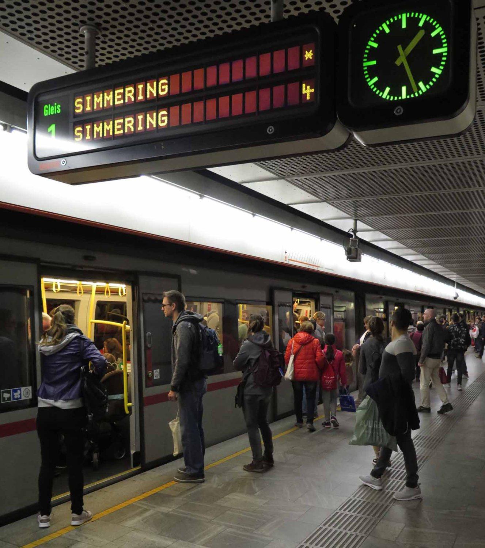 Austria-Vienna-Metro-Platform