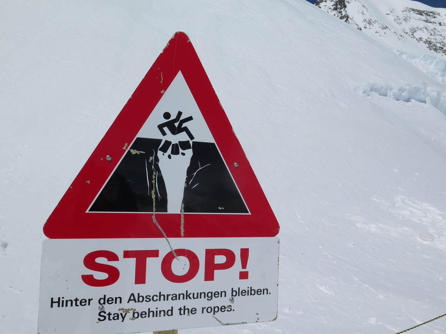 Switzerland-Bernese-Oberland-Jungfraujoch-Danger