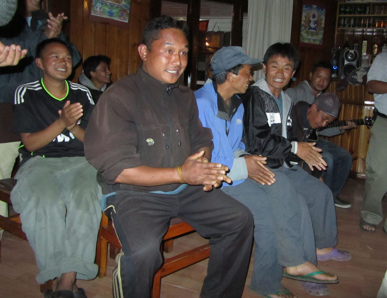 Nepal-Everest-Region-Trek-Day-09-Party-Singing