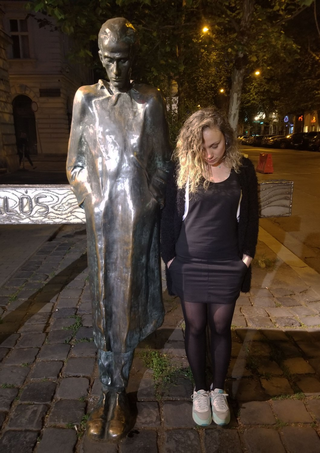 Hungary-Budapest-Statue-And-Lady