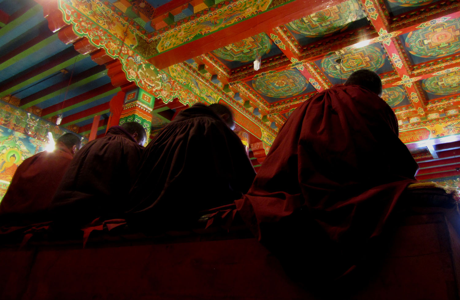 Nepal-Everest-Region-Trek-Day-04-Tengboche-Monastery-Monks