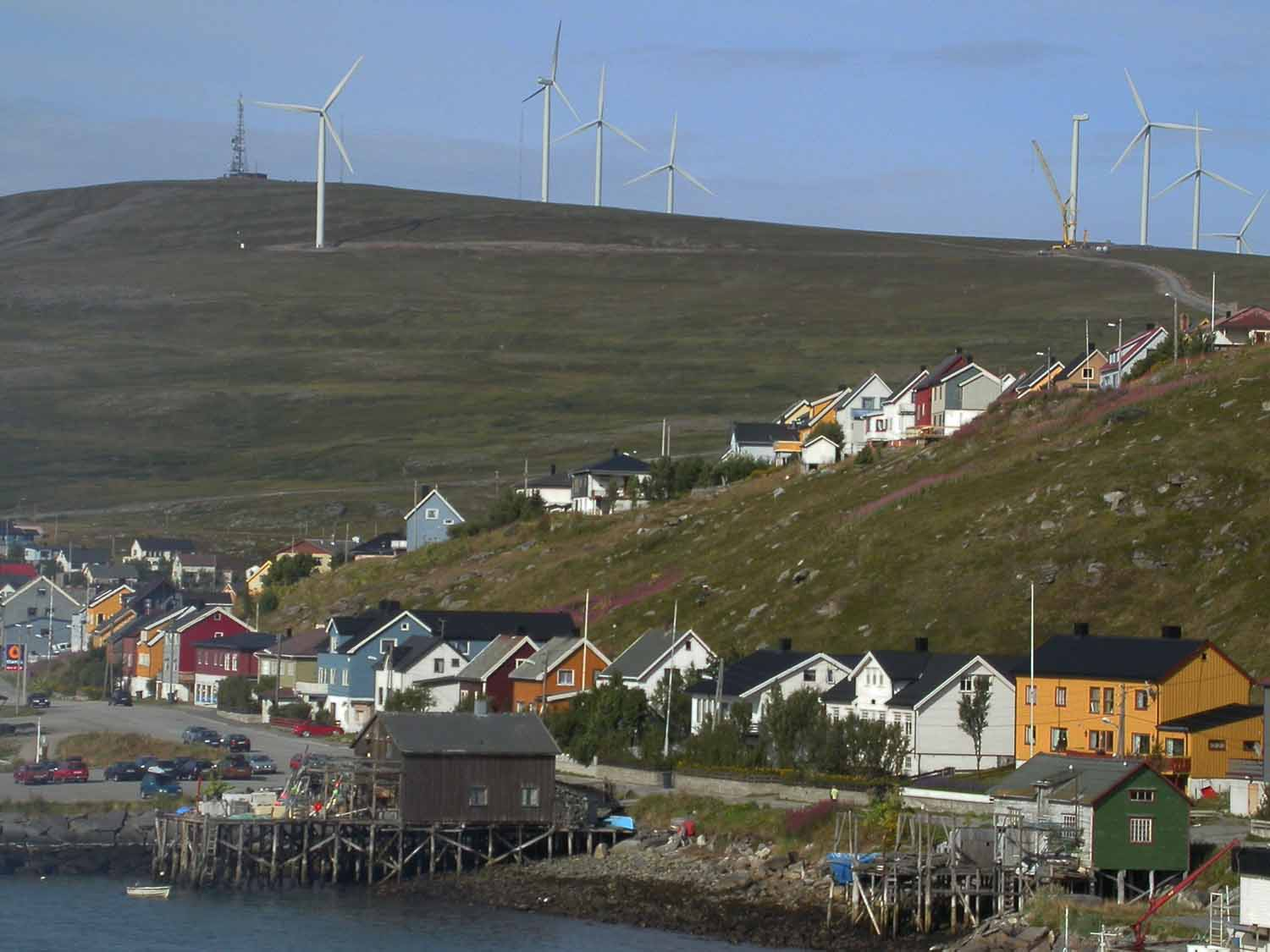 Norway-Coastal-Ferry-Village-Windmills