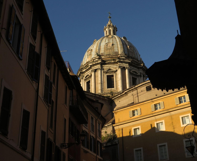 Italy-Rome-Street-Scenes-Church-Dome