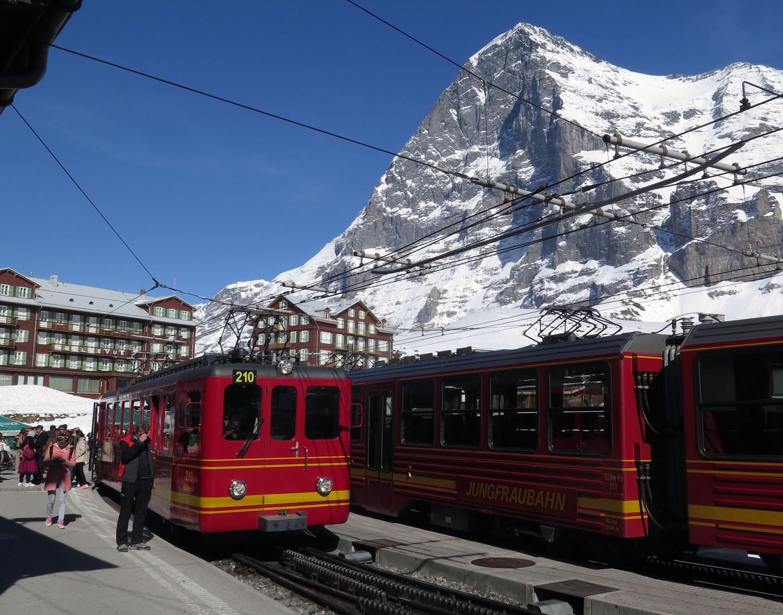 Switzerland-Bernese-Oberland-Kleine-Scheidegg-Eiger