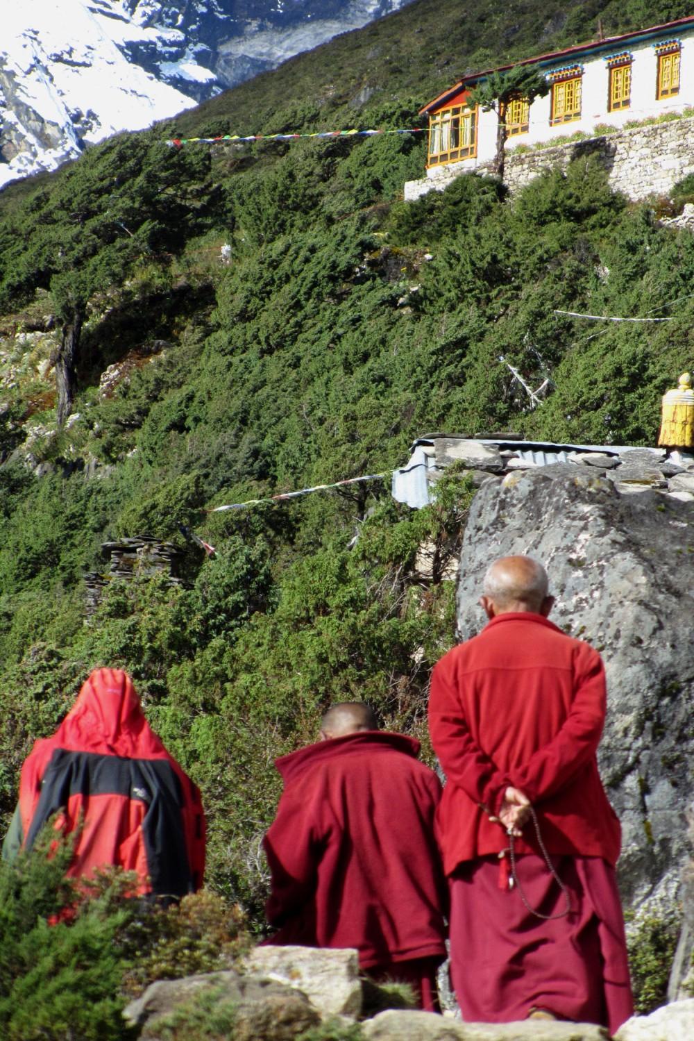 Nepal-Everest-Region-Trek-Day-07-Thame-Monks