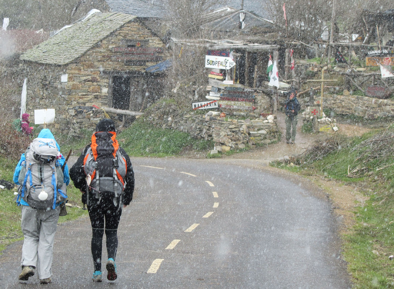 Camino-De-Santiago-Sights-And-Scenery-Pilgrims-Snow