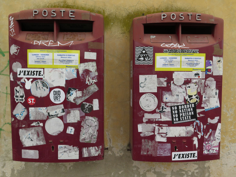 Italy-Pisa-Street-Scenes-Mail-Boxes