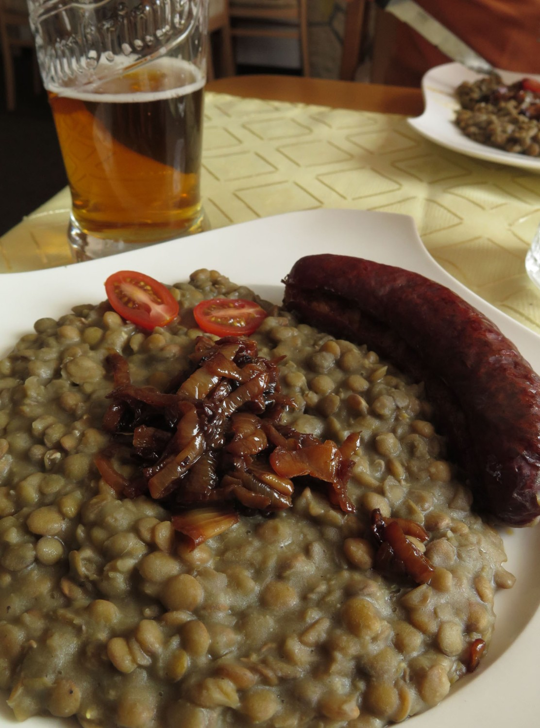 czech-republic-prague-food-and-drink-sausage-lentils