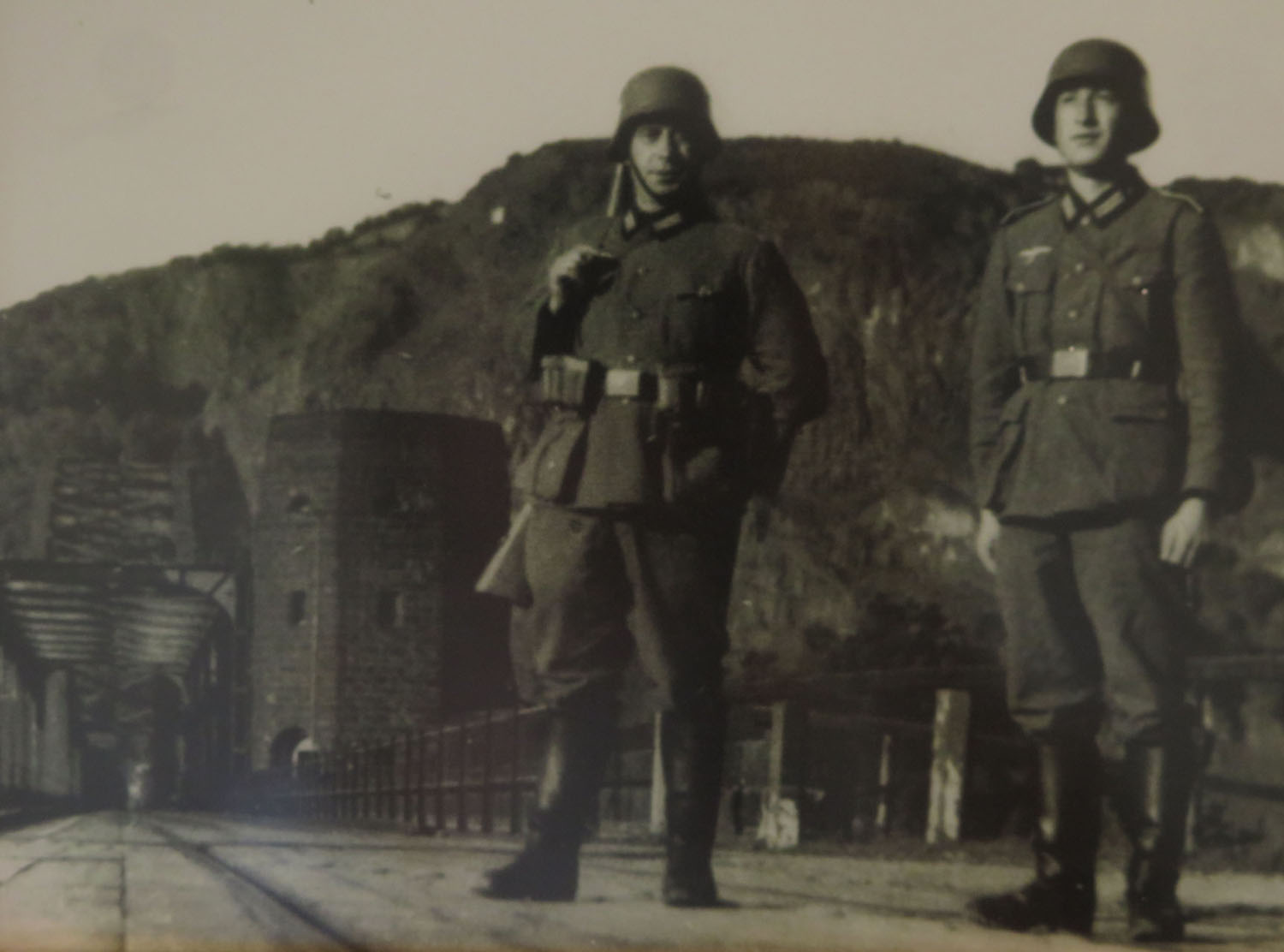 Germany-Bridge-At-Remagen-Peace-Museum-German-Soldiers-On-Guard