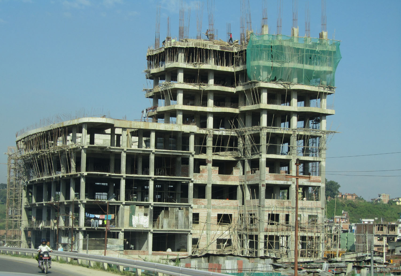 Nepal-Kathmandu-Building