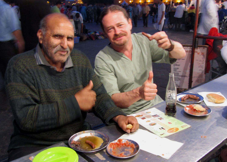 Morocco-Marrakech-Djemaa-El-Fna-Sausage