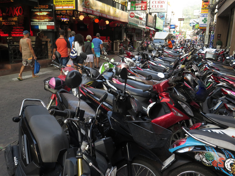 Thailand-Phuket-Street-Scenes-Scooters