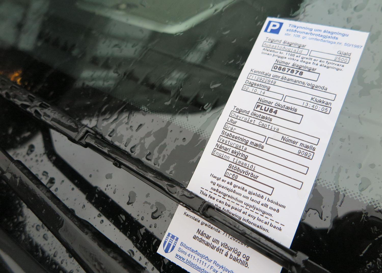 Iceland-Reykjavik-Parking-Ticket