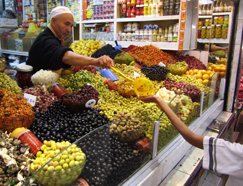 Morocco-Tangier-Souk-Olives