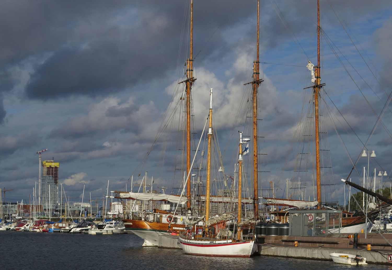 Finland-Helsinki-Harbor-Sail-Boats