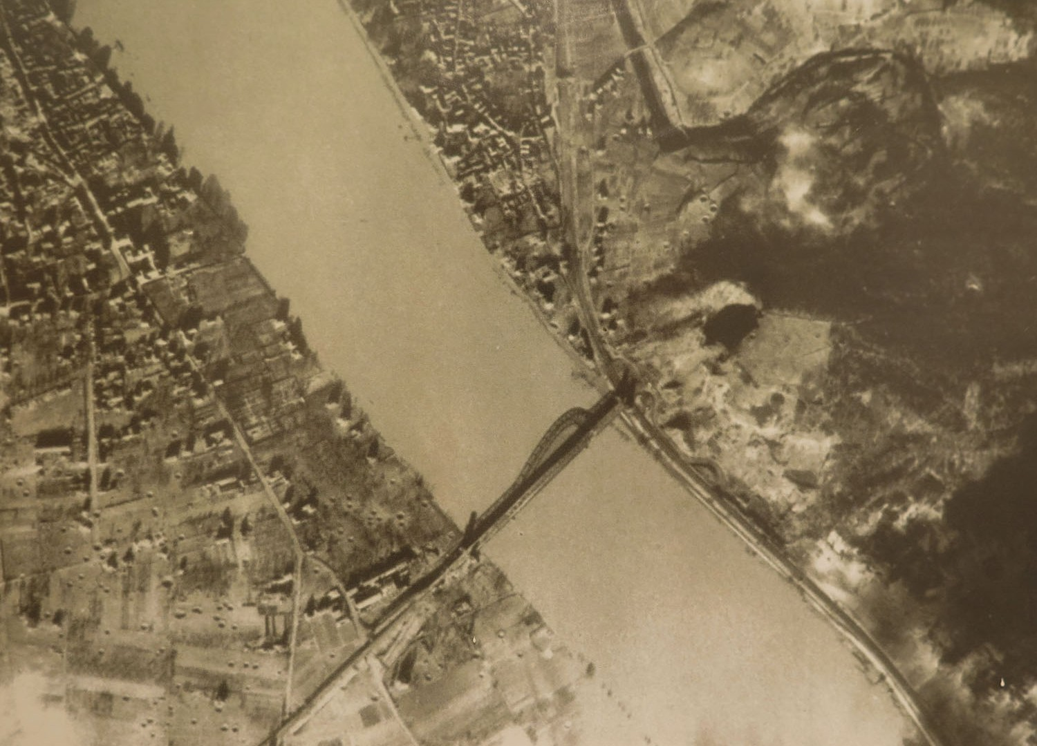 Germany-Bridge-At-Remagen-Peace-Museum-Aerial-Reconnaissance-Photo