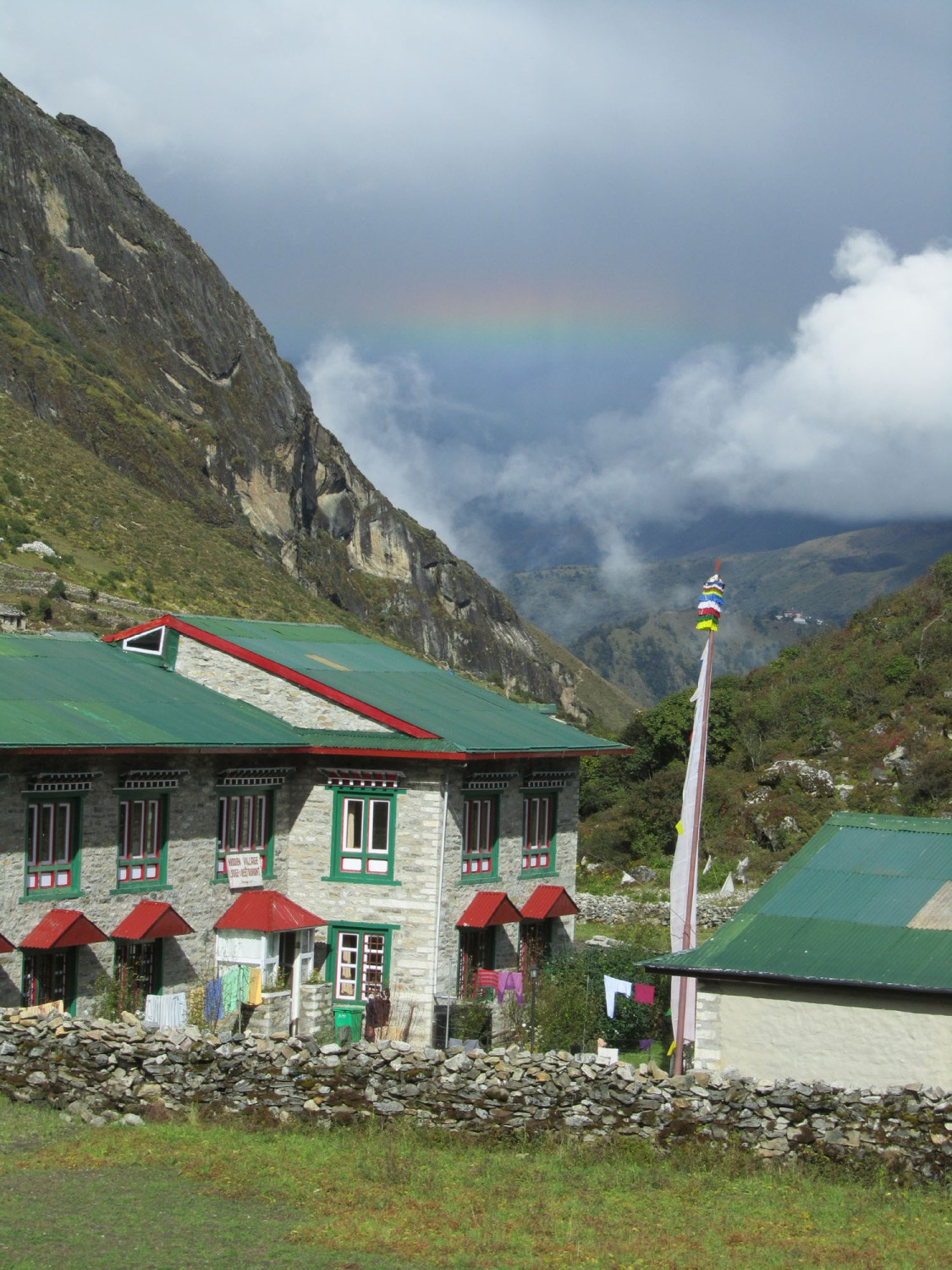 Nepal-Everest-Region-Trek-Day-05-Khumjung-Rainbow