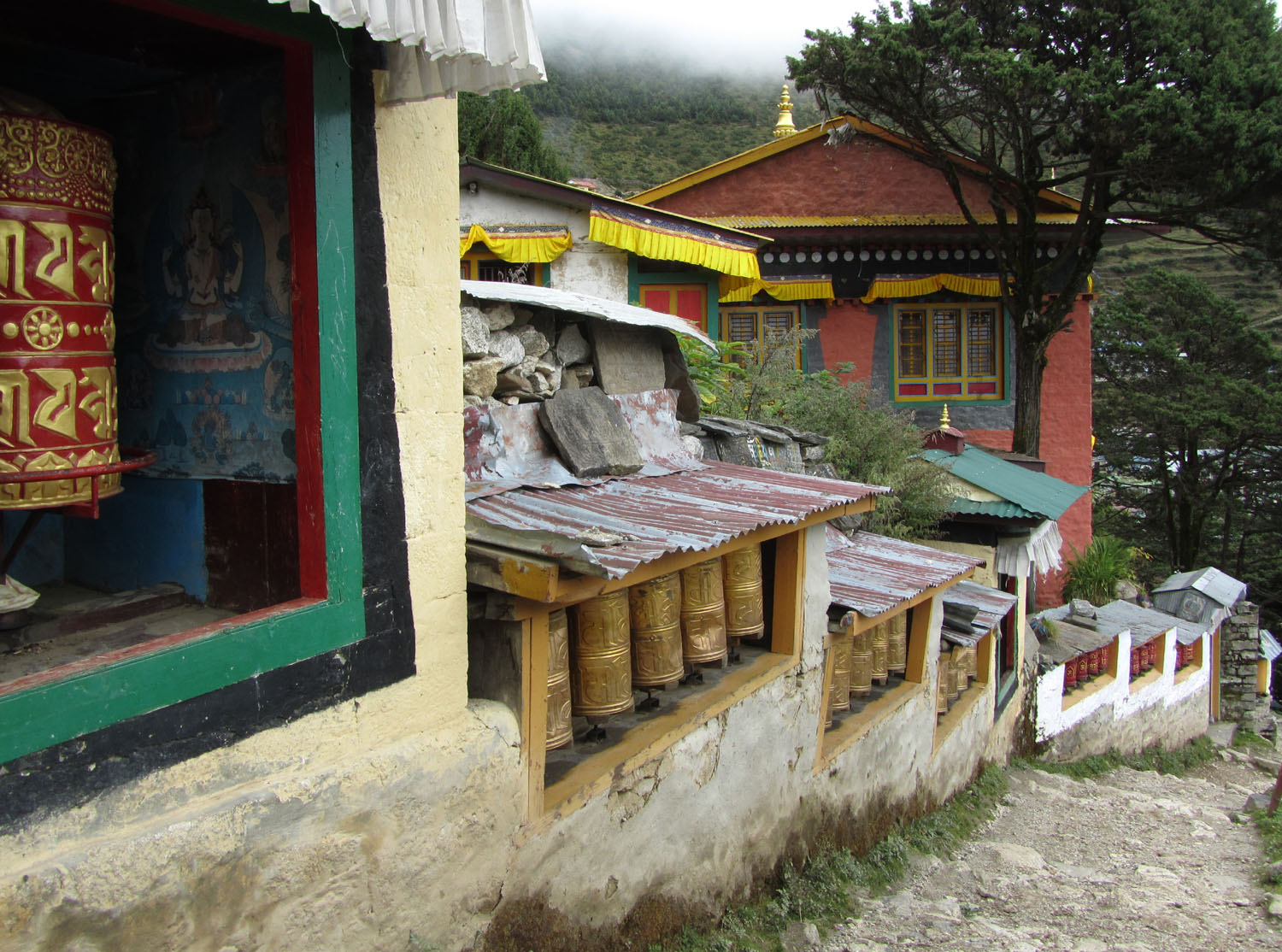 Nepal-Everest-Region-Trek-Day-07-Namche-Prayer-Wheels