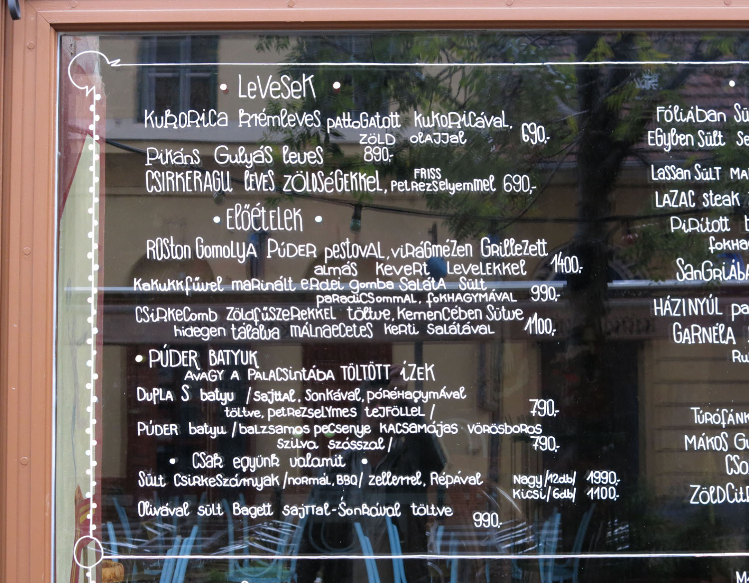 Hungary-Budapest-Food-And-Drink-Menu