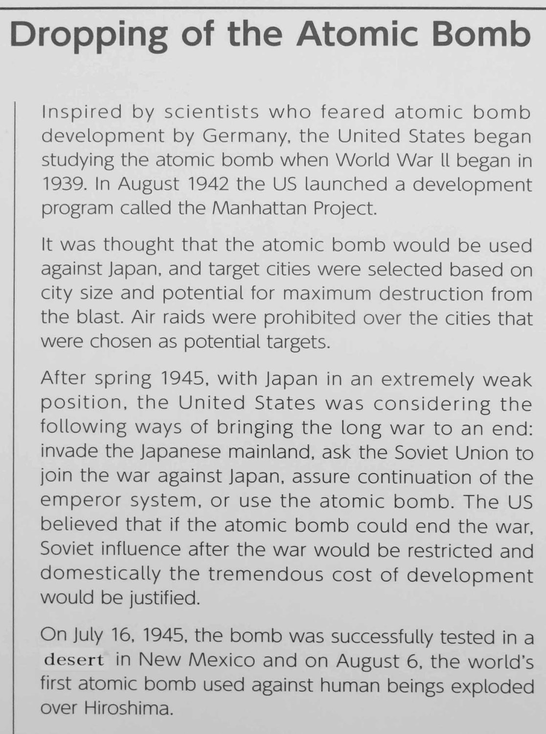 Japan-Hiroshima-Peace-Park-Memorial-Museum-Dropping-The-Bomb