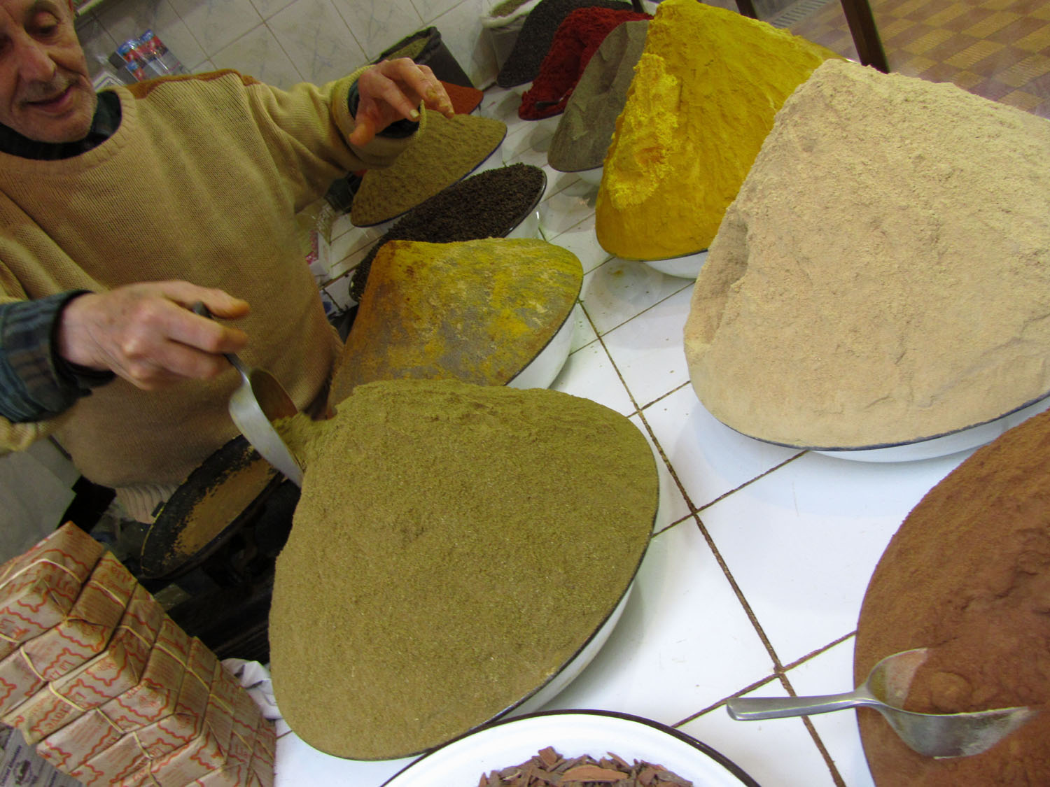 Morocco-Tangier-Souk-Spices
