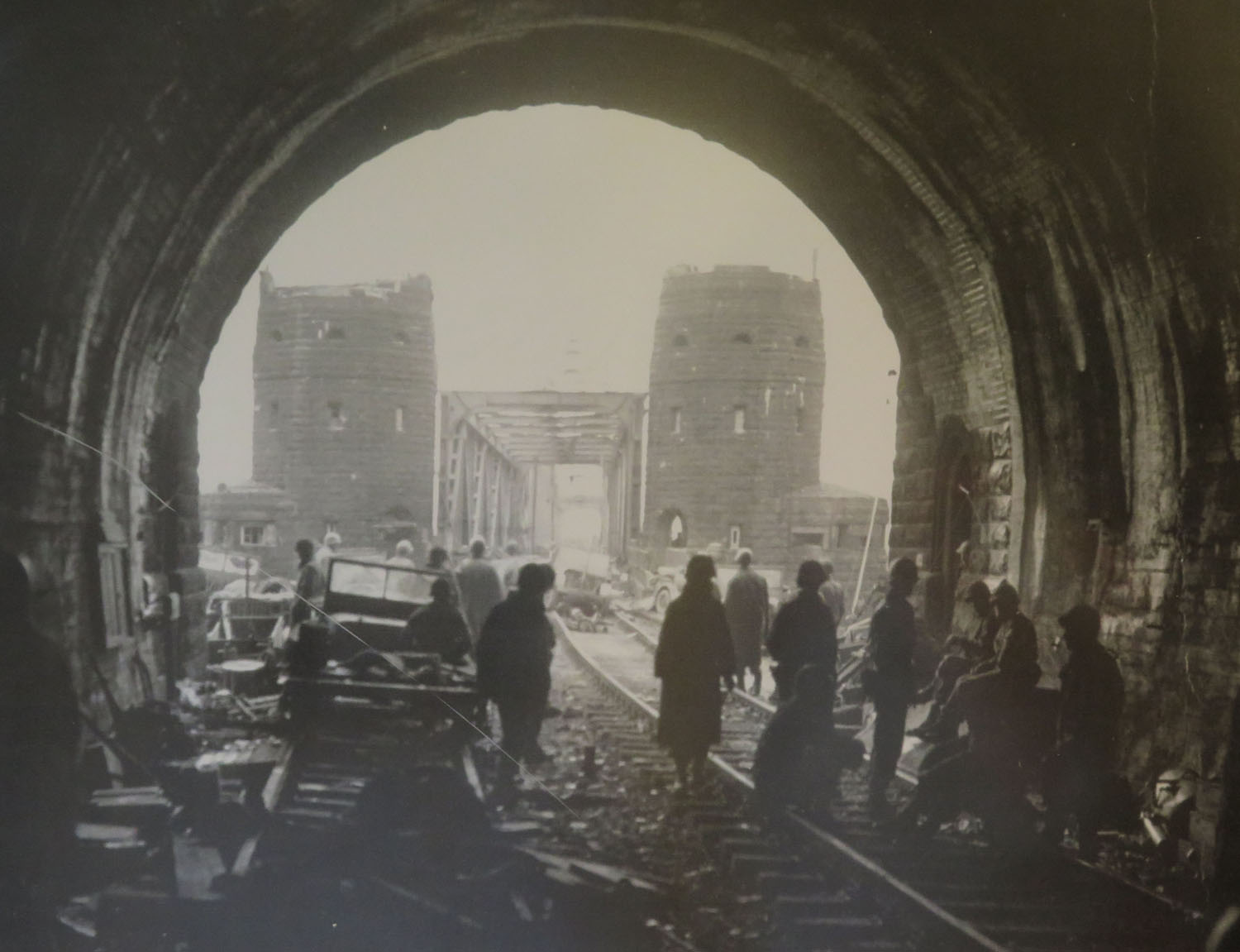 Germany-Bridge-At-Remagen-Peace-Museum-Photograph-From-Tunnel-On-East-Bank