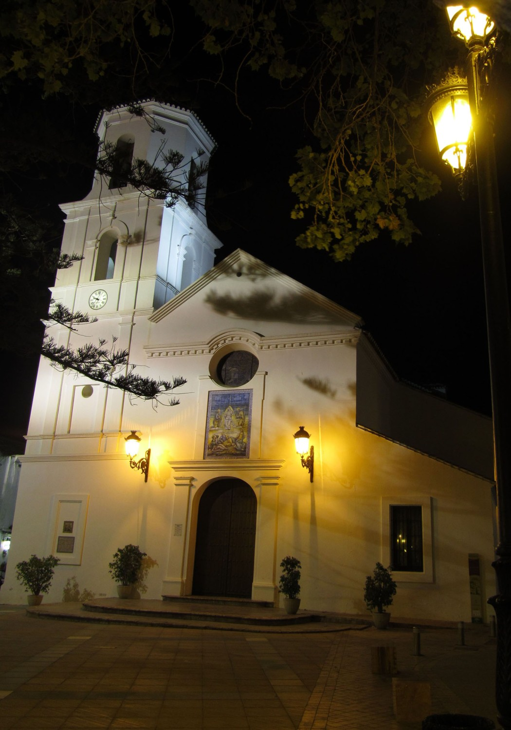 Spain-Nerja-Church-Night