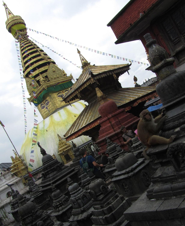 Nepal-Kathmandu-Monkey-Temple-Stupas