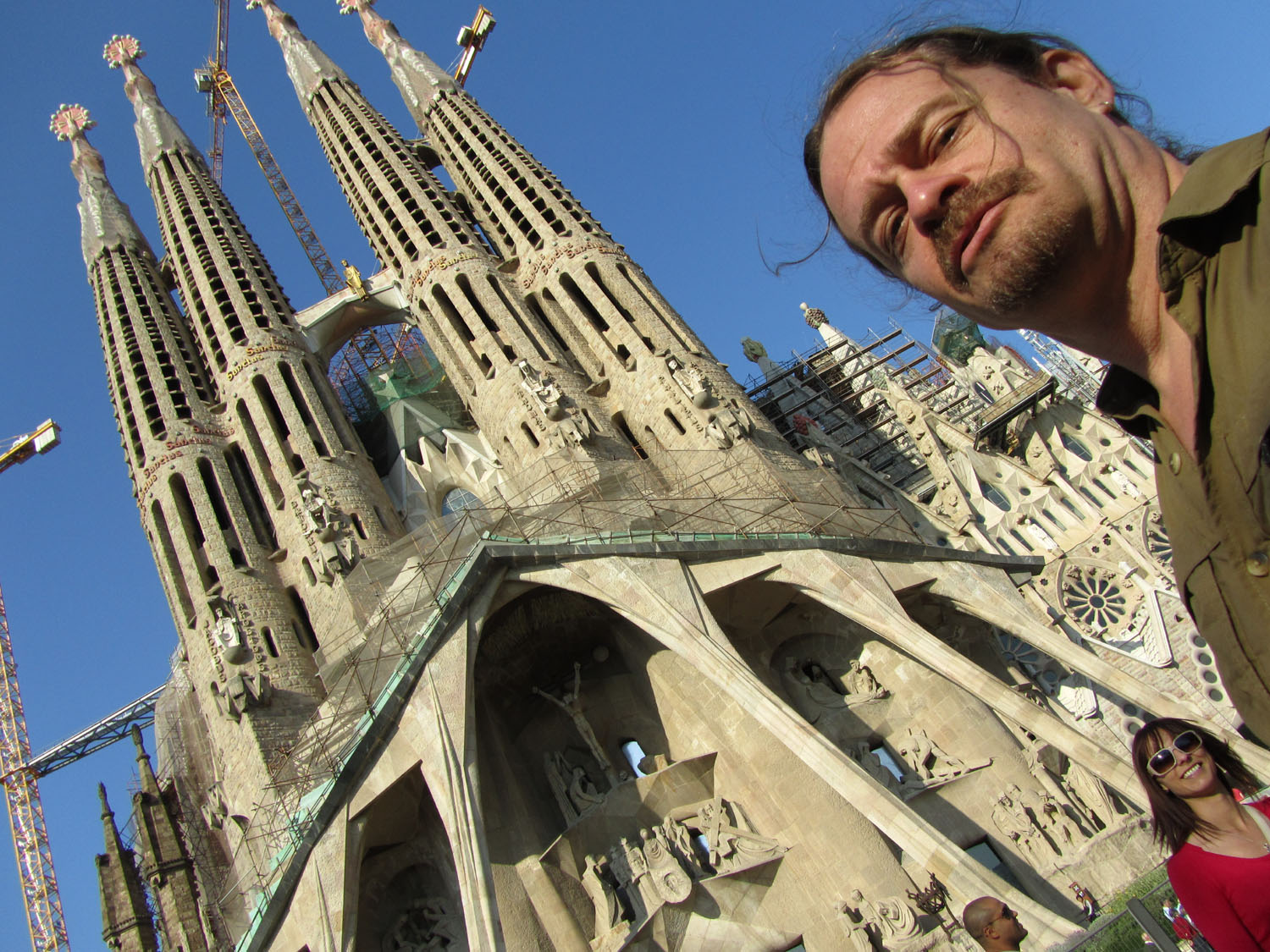 Spain-Barcelona-Gaudi-Sagrada-Familia-Self-Portrait